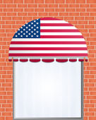 Usa flagged color vector awning — Stock Vector