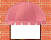 Storefront Awning in reddish pink — Stock Vector