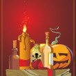 Royalty-Free Stock Imagem Vetorial: Halloween. Pumpkin head