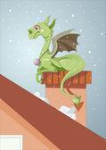 Year of the dragon. 12 Zodiac Animals — Stock Vector
