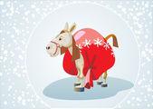 Year of the horse. 12 Zodiac Animals — Stock Vector