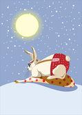 Jahr des Kaninchens. 12 Sternzeichen Tiere. — Stockvektor