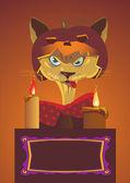Halloween cat — Stock Vector