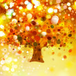 Abstract autumnal tree on lights background. — Stock Photo