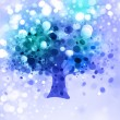 Abstract winter tree on lights background. — Stock Photo