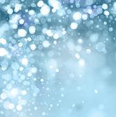 Světla na modrém pozadí. — Stock fotografie