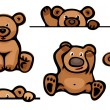Vector de stock : Funny bears.