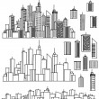 City and elements for design. - Imagens vectoriais em stock