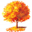 Vector of abstract autumnal tree. — Imagen vectorial