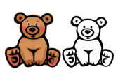 Cute bear. — Stock Vector