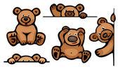 Funny bears. — Stock Vector