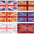 British flag grunge vector — Stock Vector