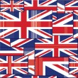 Seamless pattern of british flag. — Stock Vector