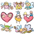 Cute angels for your design. - Stock Vector