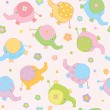 Cute background , small baby elephants — Stock Vector