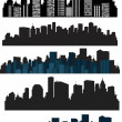 Set of vector cities silhouette — Stock Vector #21462105