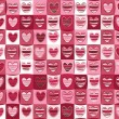 Seamless pattern of hearts for Valentines day. — Stock Vector #21462225