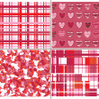 Seamless pattern of hearts for Valentines day. - Stok Vektör