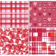 Seamless pattern of hearts for Valentines day. - Imagen vectorial