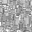 Stock Vector: Seamless pattern of city
