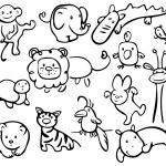 silhouetten van dieren — Stockvector