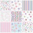 Seamless sweet patterns for design — Stock Vector #21462385
