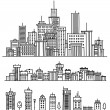 Royalty-Free Stock Vector Image: City and elements for design.