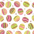 Seamless pattern of Easter eggs — Stock Vector
