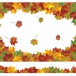 Vector of autumn colorful leaves. — Stock Vector