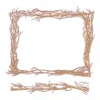 Frame made from branches, and seamless element for design — Stock Vector #21464583