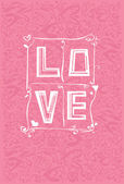 Love card. — Stok Vektör
