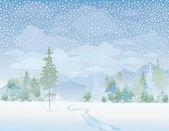 Vektör kış manzara — Stok Vektör