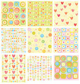 Big set of nice backgrounds for your design. — Stock Vector