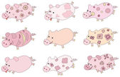 Cute piglets. — Stock Vector