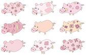 Cute piglets. — Stock Vector