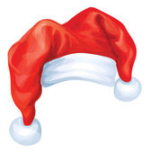 Vector of red Santa Claus hat. — Stock Vector