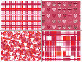 Seamless pattern of hearts for Valentines day. — Vector de stock