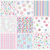 Seamless sweet patterns for design — Stock Vector