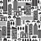 Seamless pattern of city. — Stock Vector
