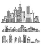 City and elements for design. — Stock Vector