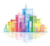 Colorful panorama city. — Stock Vector