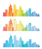 Vector of colorful London skyline — Stock Vector