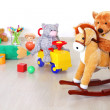 Toys in kidsroom - Stock Photo