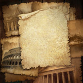 Background page of beige vintage paper close up. — Stock Photo