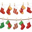 Vector Christmas socks. — Stock Vector #35308329