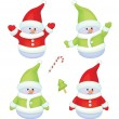 Fun snowmen isolated. — Stock Vector