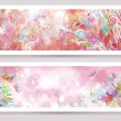 Vector floral banners. — Stock Vector #35308915