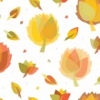 Seamless autumnal background. — Stockvektor