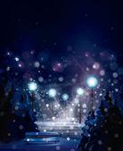 Vector of winter landscape. — Stock Vector