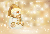 Happy snowman — Vector de stock